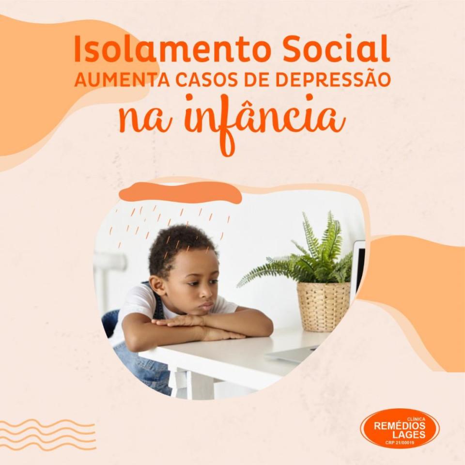 PESQUISA APRESENTA AUMENTO DE CASOS DE DEPRESSÃO NA INFÂNCIA COM ISOLAMENTO SOCIAL